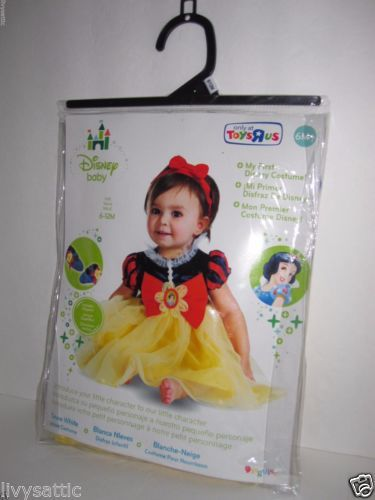 Disney-Baby-Girl-SNOW-WHITE-Halloween-Costume-Size-6-12-M-NEW