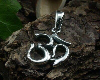 925 Sterling Silber, Om, Aum, Urlaut, Ursilbe, Urklang, Mantra, Anhänger