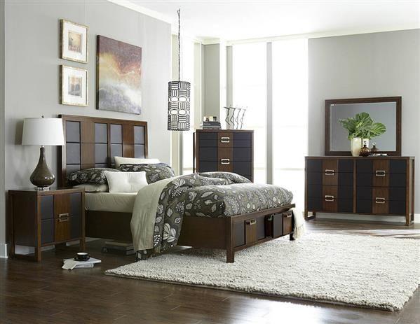 Zeigler Brown Cherry Wood Platform Master Bedroom Set Dream House
