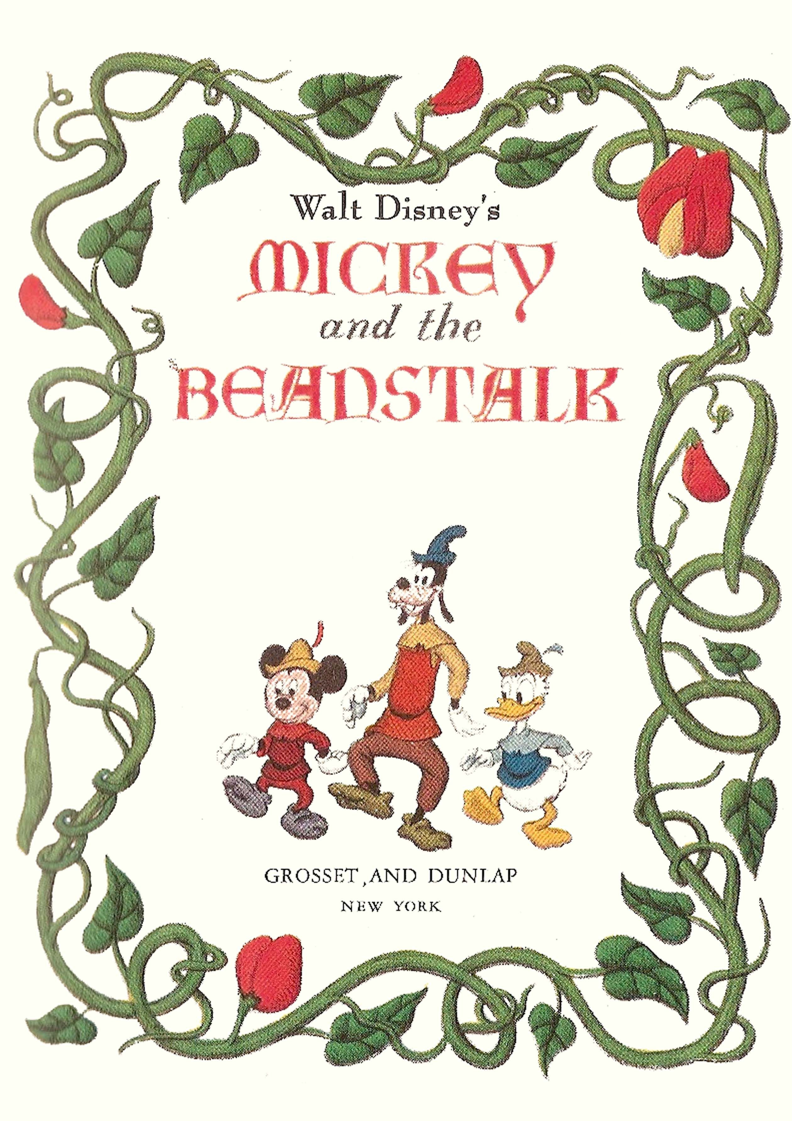 Mickey The Beanstalk Cover Book Vintage Disney Disney Posters Disney Books