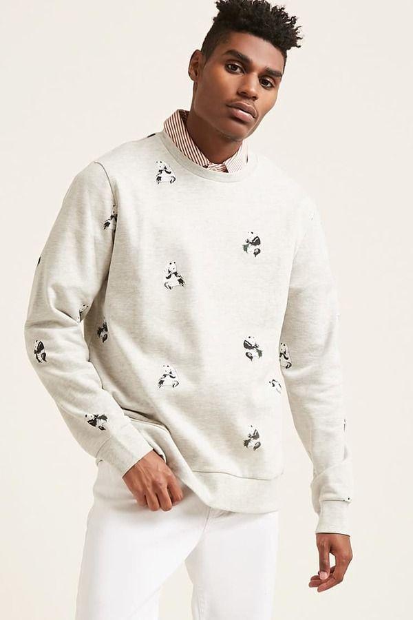 21men 21 Men Panda Graphic Sweatshirt Sweatshirts Fashion