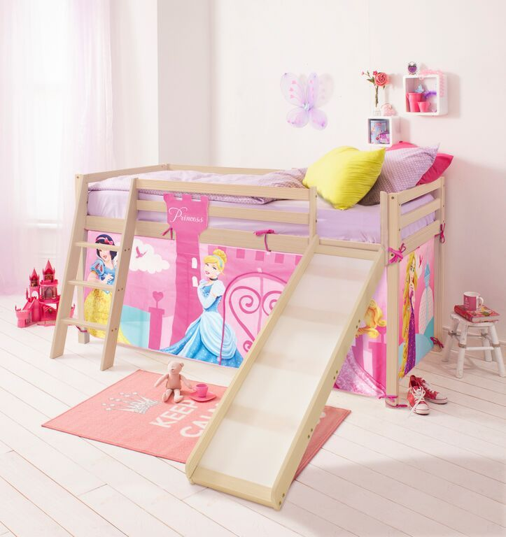 Disney Princess Cabin Bed with Slide and Tent in Design | £199.99 | Noa and & Disney Princess Cabin Bed with Slide and Tent in Design | £199.99 ...