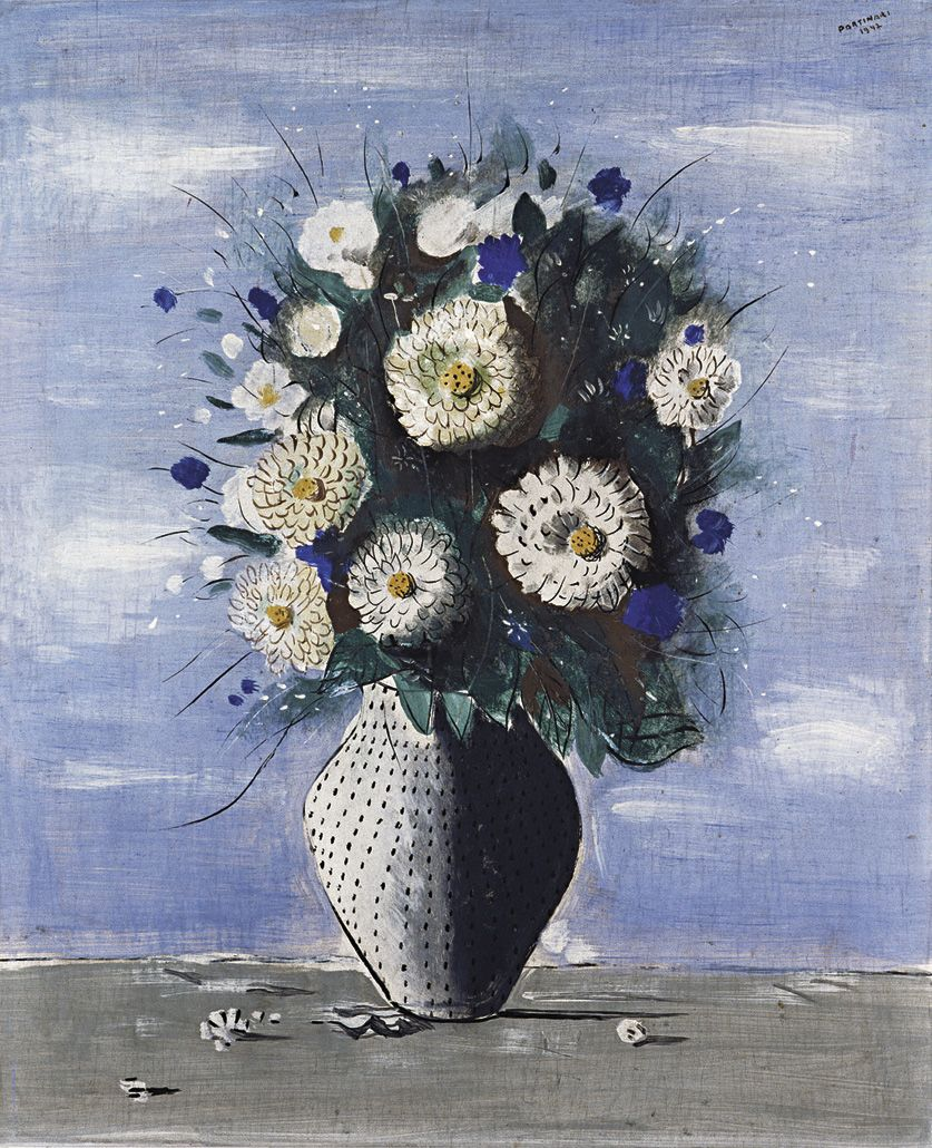 Vaso de Flores de 1942 (pintura a têmpera sobre madeira) Cândido Portinari http://virzionair.com/biblioteca/work/portinari/