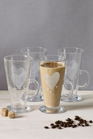 Set Of 4 Latte Glasses from Next