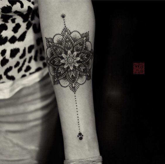 40 intricate mandala tattoo designs forearm tattoos. Black Bedroom Furniture Sets. Home Design Ideas