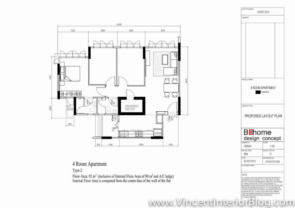 Punggol-4-Room-HDB-207-Lighting-Plan-and-Final-Layout.jpg (1189×840 ...