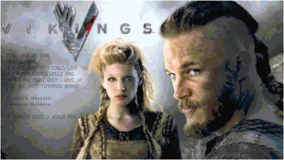 Vikings Theme Song with Ragnar and Lagertha Cross by
