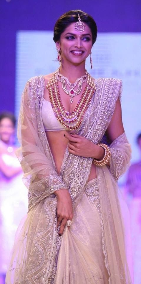 Deepika Padukone in White Lehenga. | Indian fashion ...