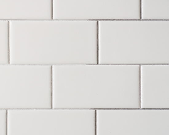 Checking Off The Backsplash White Brick Backsplash Grey Grout White Subway Tile Kitchen