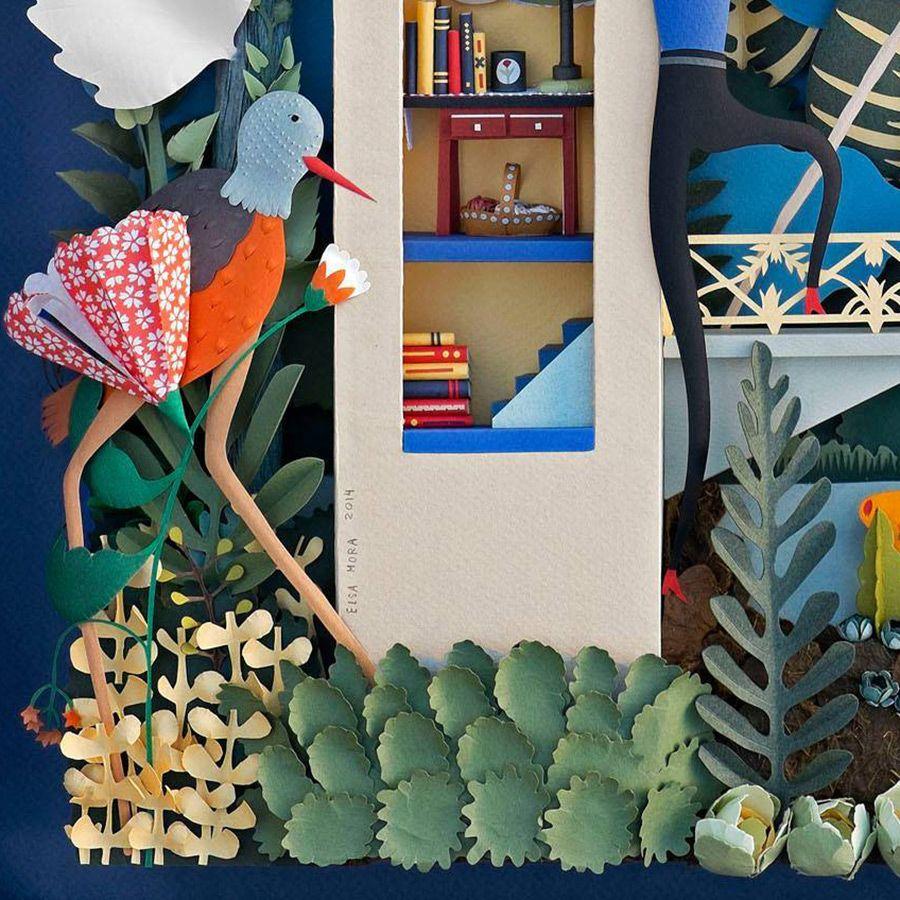 Nuevo corte ESCULTURAS de Papel e ILUSTRACIONES de Elsa Mora Ilustración Papel escultura