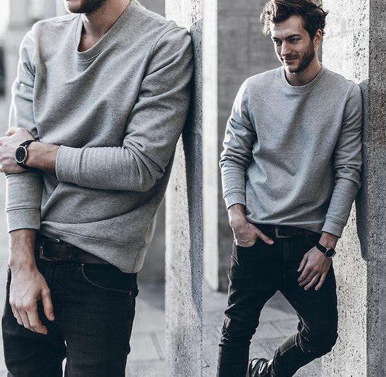 Grey Sweater . Casual Look for Men | Ropa de hombre casual