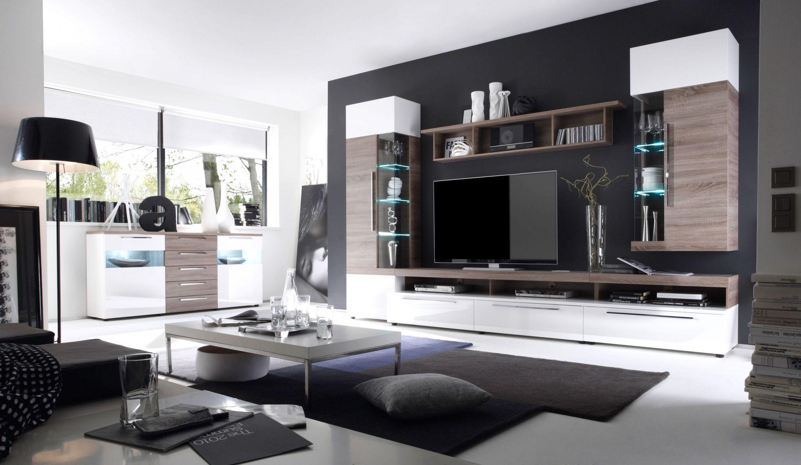 Tv Wohnwand Ideen Moderne Elegant Wohnzimmerwand Modern