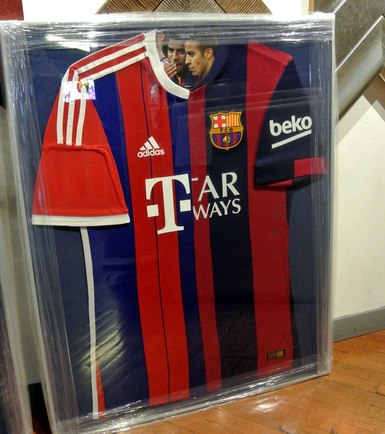 marco para camiseta de futbol totart.cat #camiseta #enmarcar ...