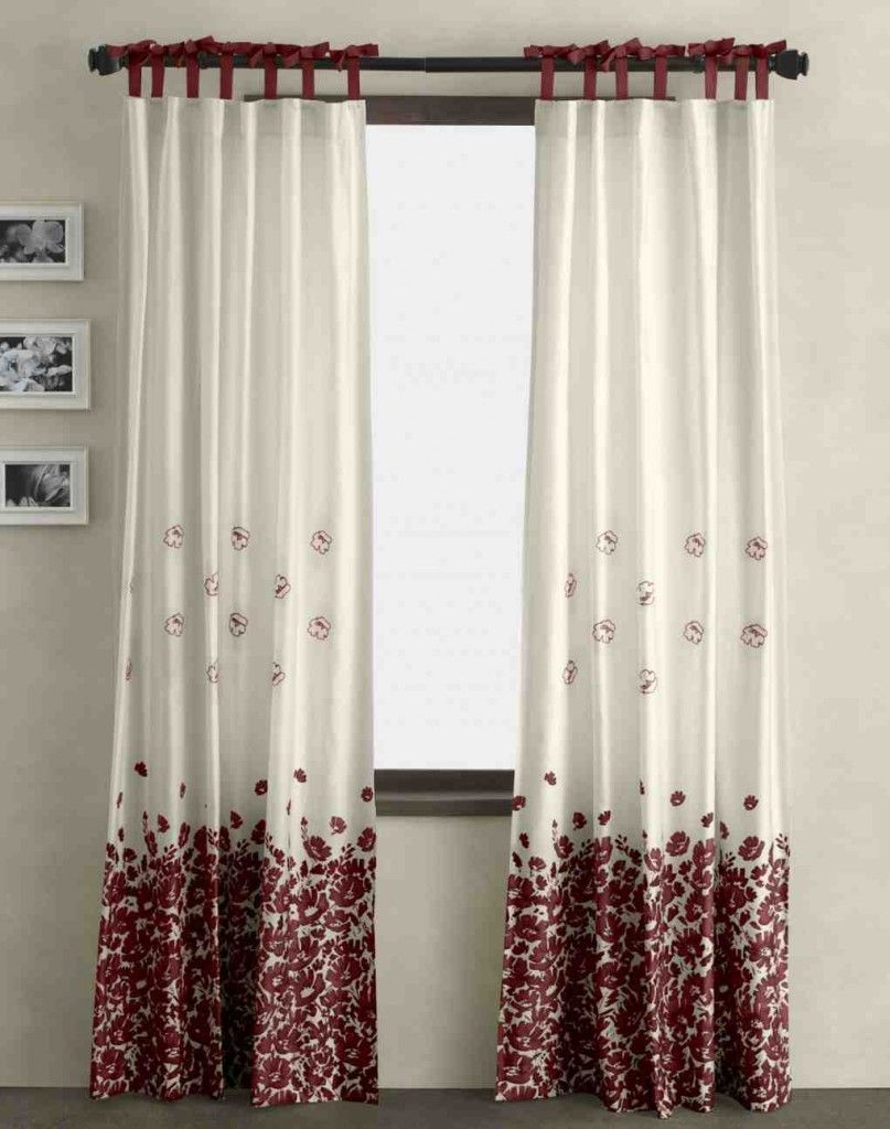 Red And White Curtains For Living Room Red And White Curtains