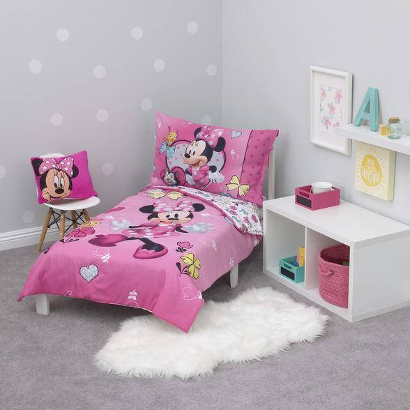 mickey mouse  friends minnie mouse toddler 4pc bedding