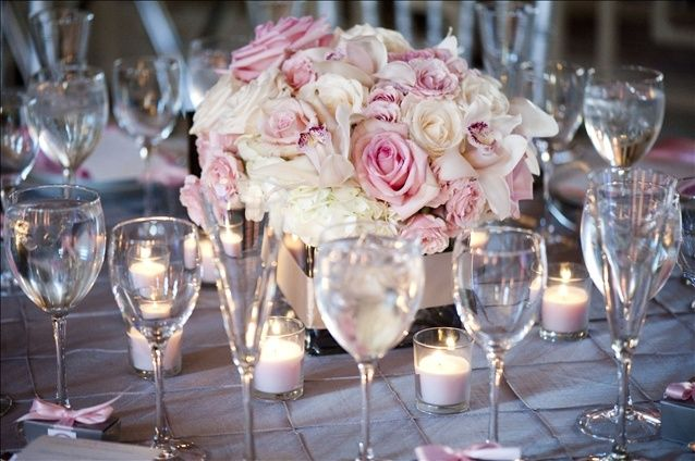 Pinterest Pink Silver Weddings And Wedding Reception Thanks To Table Decor Gold