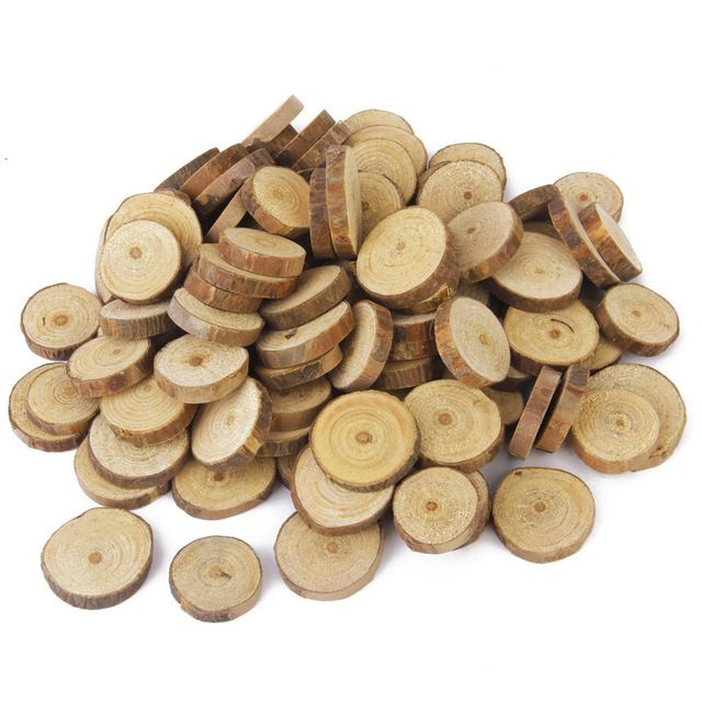 100pcs 1 3cm wood log slices discs for diy crafts wedding cheap disc wood buy quality disc party directly from china disc box suppliers angrly approx wood log slices discs for diy crafts wedding centerpieces gift junglespirit Image collections