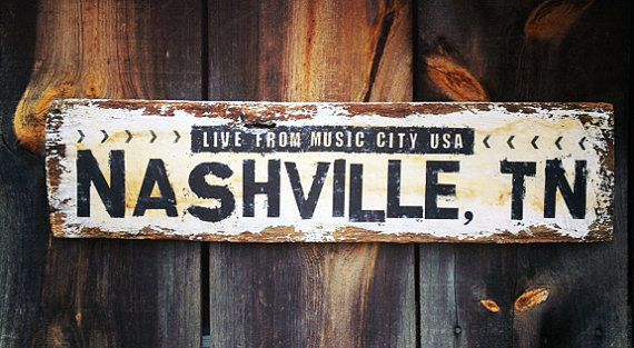 Live from Music City USA Nashville Tn Distressed Reclaimed Wood Sign  Southern on Etsy, $55.00 - Live From Music City USA Nashville Tn Distressed Reclaimed Wood