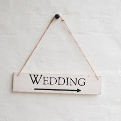 How to make your own rustic, DIY wedding sign...we will be needing a few of these!