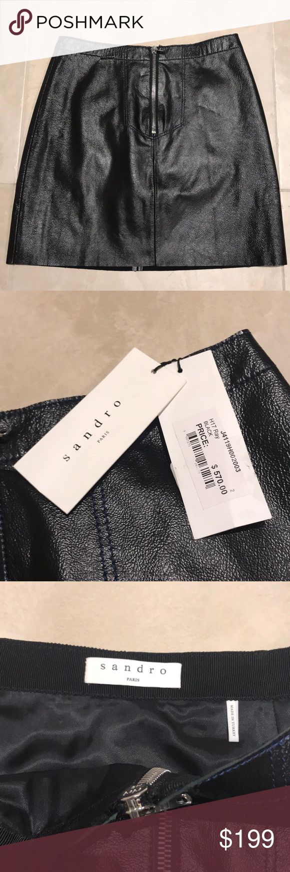 a668f30f60 Sandro Ray Leather Mini Skirt Never been worn, new Sandro Ray Leather Mini  Skirt!