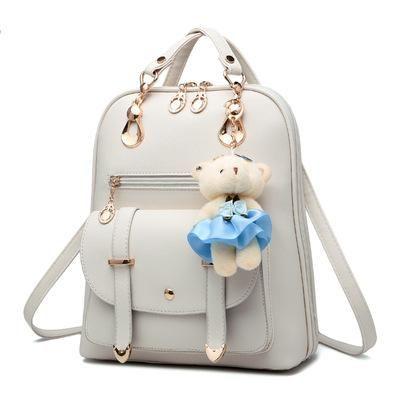 Cute Women Backpack Anti Theft Fashion Pu Leather Female Rucksack Travel Knapsack School Bags For Teenage Girls Bagpack Softback