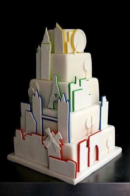 Wedding Cake Ideas Inspiring Ideas Creative Ideas And More Creative Wedding Cakes Travel Cake City Cake