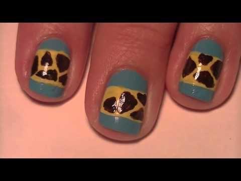 Cute Giraffe Nail Art Nails Pinterest Giraffe Nails