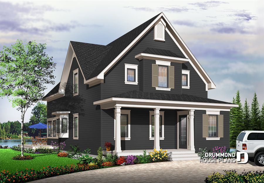 Discover The Plan 3510 Evergreene Which Will Please You For Its 2 3 Bedrooms And For Its Cottage Chalet Cabin Styles Country Style House Plans Craftsman Style House Plans Drummond House Plans
