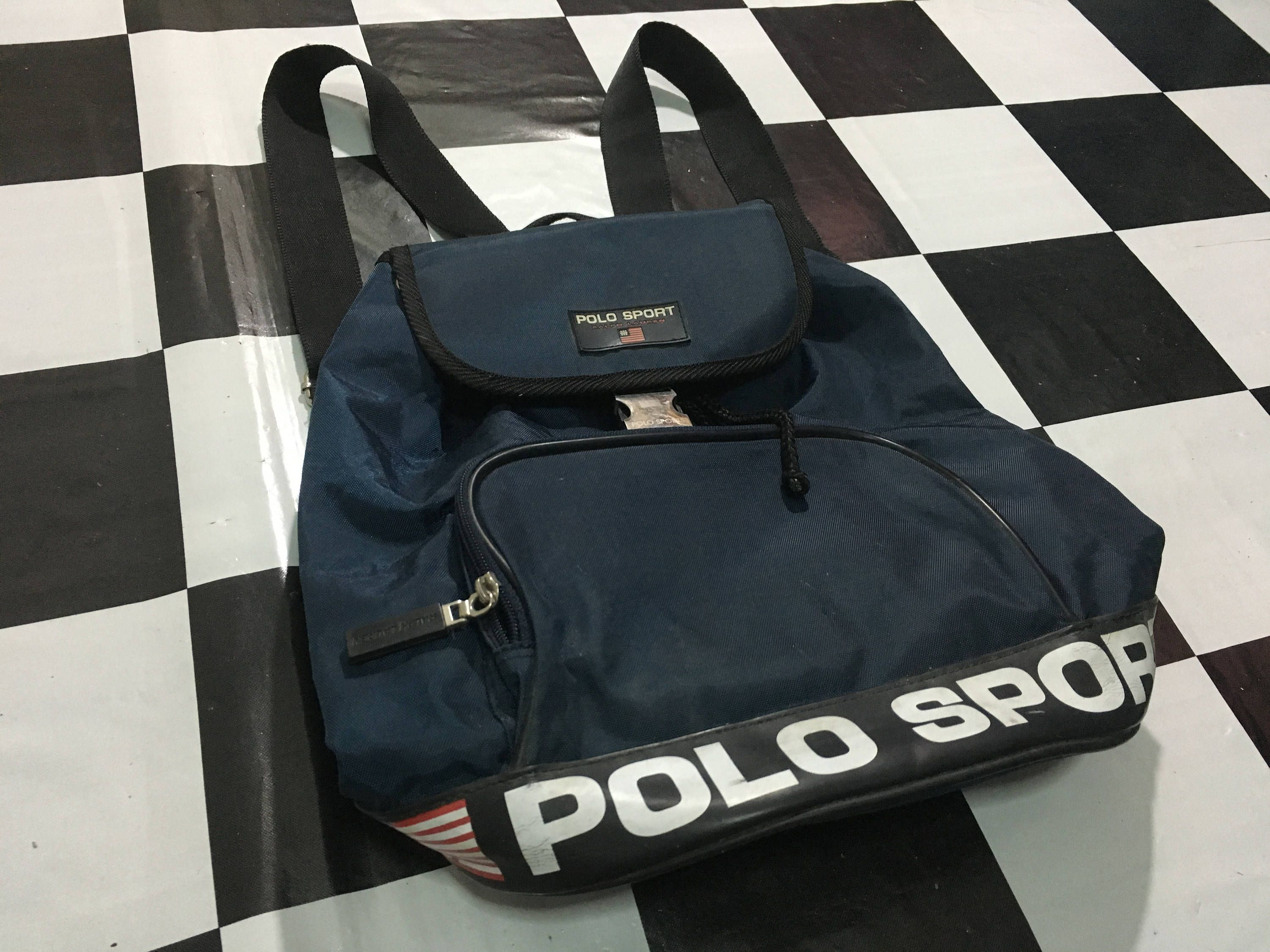 0f6e986b7 Vintage Polo sport backpack spell out logo on sash polo sport bag Excellent  condition Polo sport ralph lauren by AlivevintageShop on Etsy
