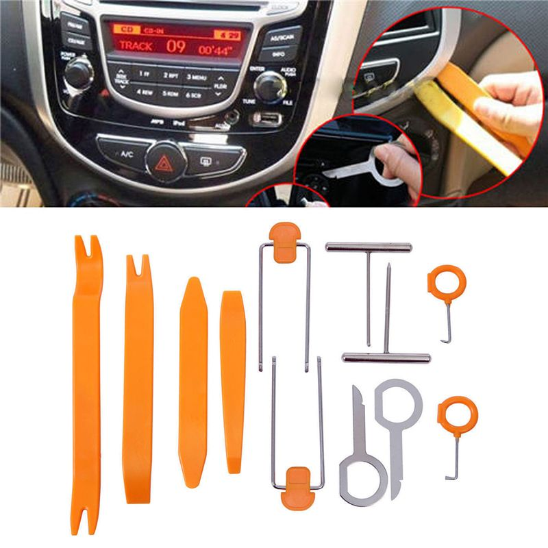 12Pcs Universal Car Dash Trim Panel Radio Audio Removal Pry Open Tools Kit