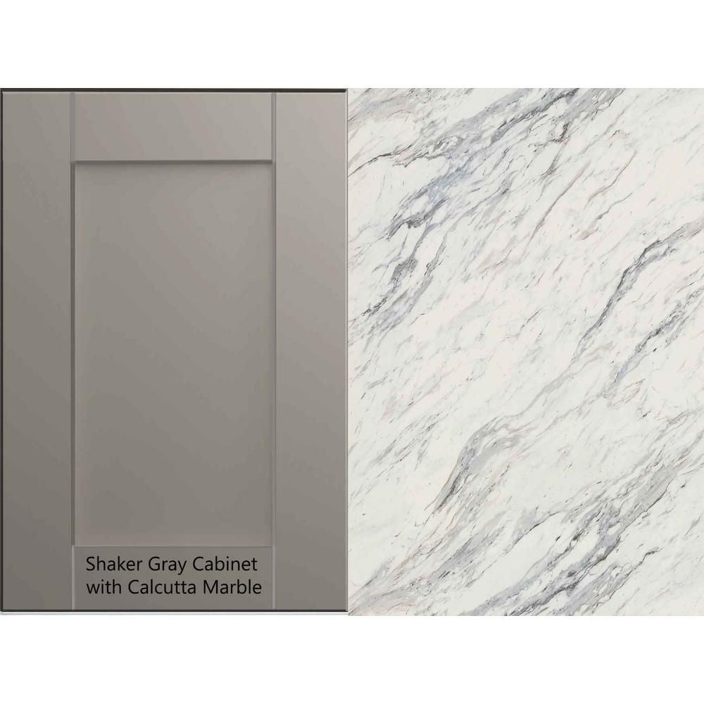 Hampton Bay 6 Ft Laminate Countertop Kit In Calcutta Marble With