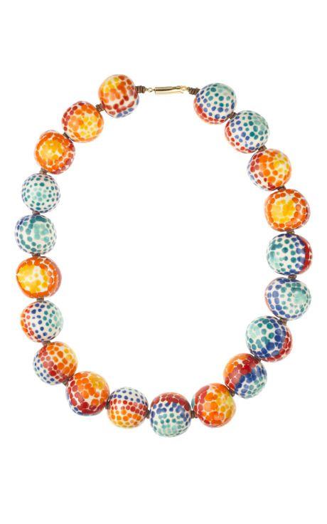 Carole Tanenbaum Vintage Collection Watercolor Bead Necklace