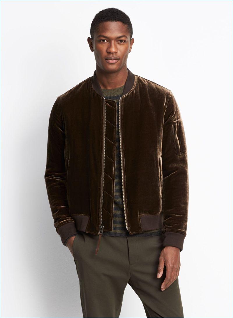 Vince Camuto Men S Wool Bomber Jacket Leather Jacket Men Style Wool Bomber Jacket Velvet Bomber Jacket [ jpg ]