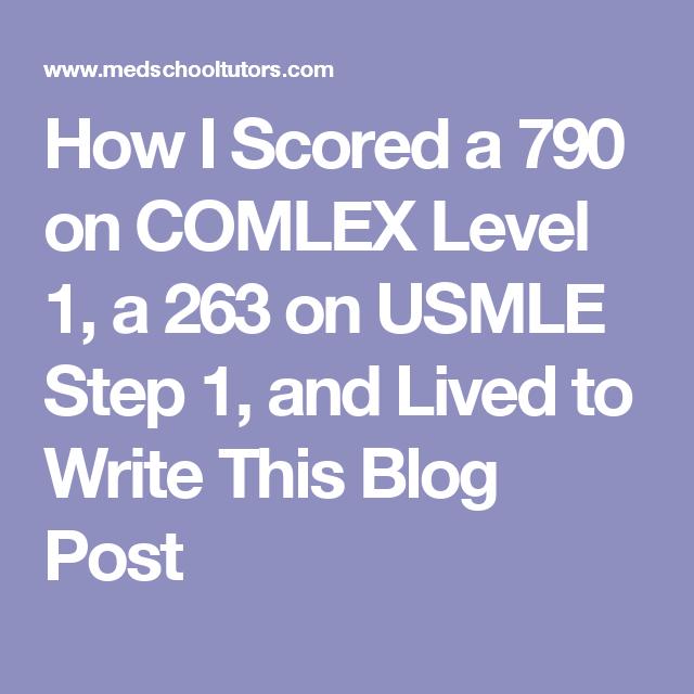 Comlex Scores