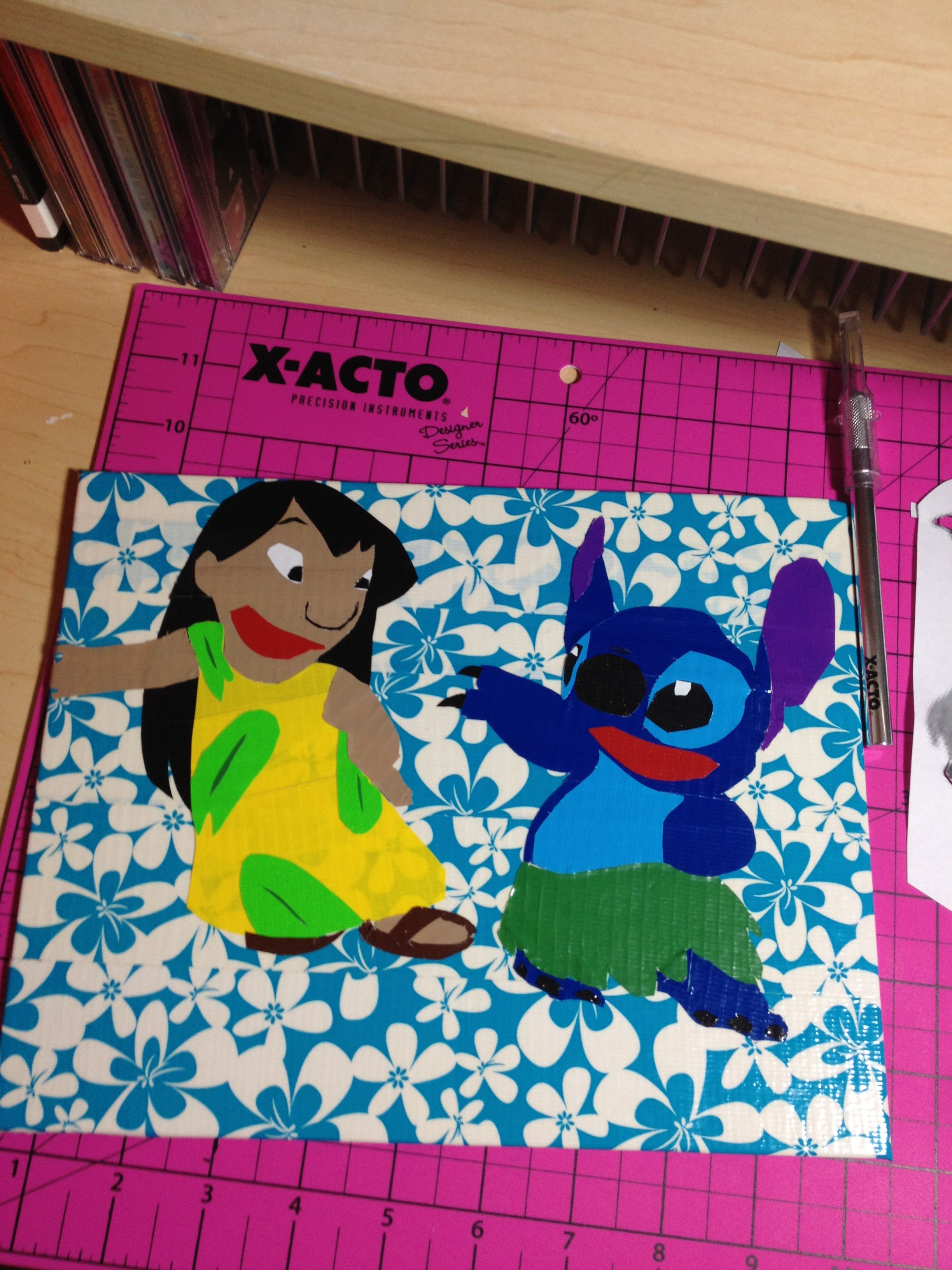 Lilo and stitch duct tape painting duct tape for Lilo and stitch arts and crafts