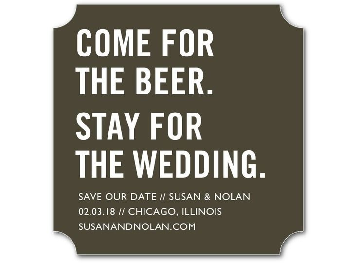 Come for the beer. Stay for the wedding. These are the best save the date coasters ever. | Wedding Paper Divas