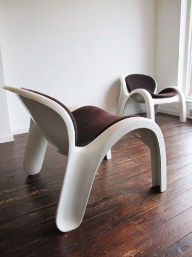 ORIGINAL GN2 ARMCHAIRS BY PETER GHYCZY REUTER FORM & LIFE 1970's retro danish