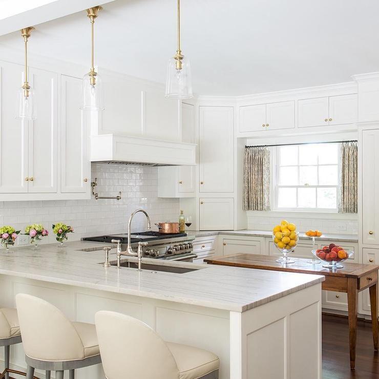 Condo Kitchen Lighting Ideas: Amazing Kitchen Features Creamy White Shaker Cabinets