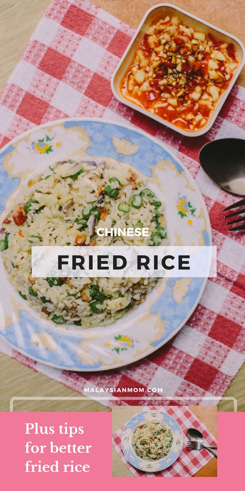 Fried rice recipe pinterest fried rice rice and easy chicken fried rice easy chicken recipe pork healthy shrimp vegetable best how to make fried rice chinese more recipes malaysianmom ccuart Images