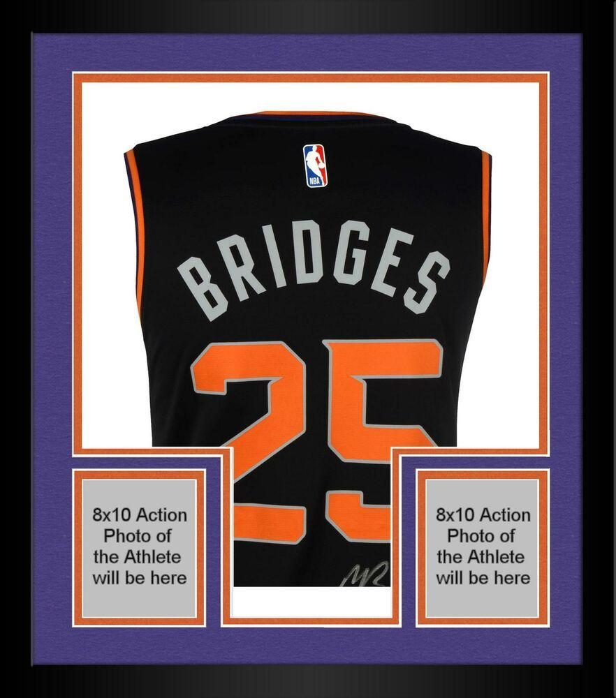 Framed Mikal Bridges Phoenix Suns Autographed Fanatics