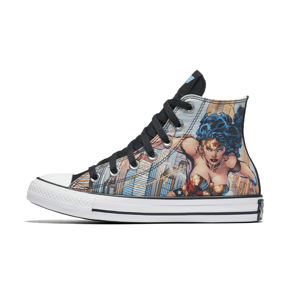 1a28b4c843 Enjoy free shipping. Converse Chuck Taylor All Star DC Comics Wonder Woman  High Top Shoe Size 3 (Blue