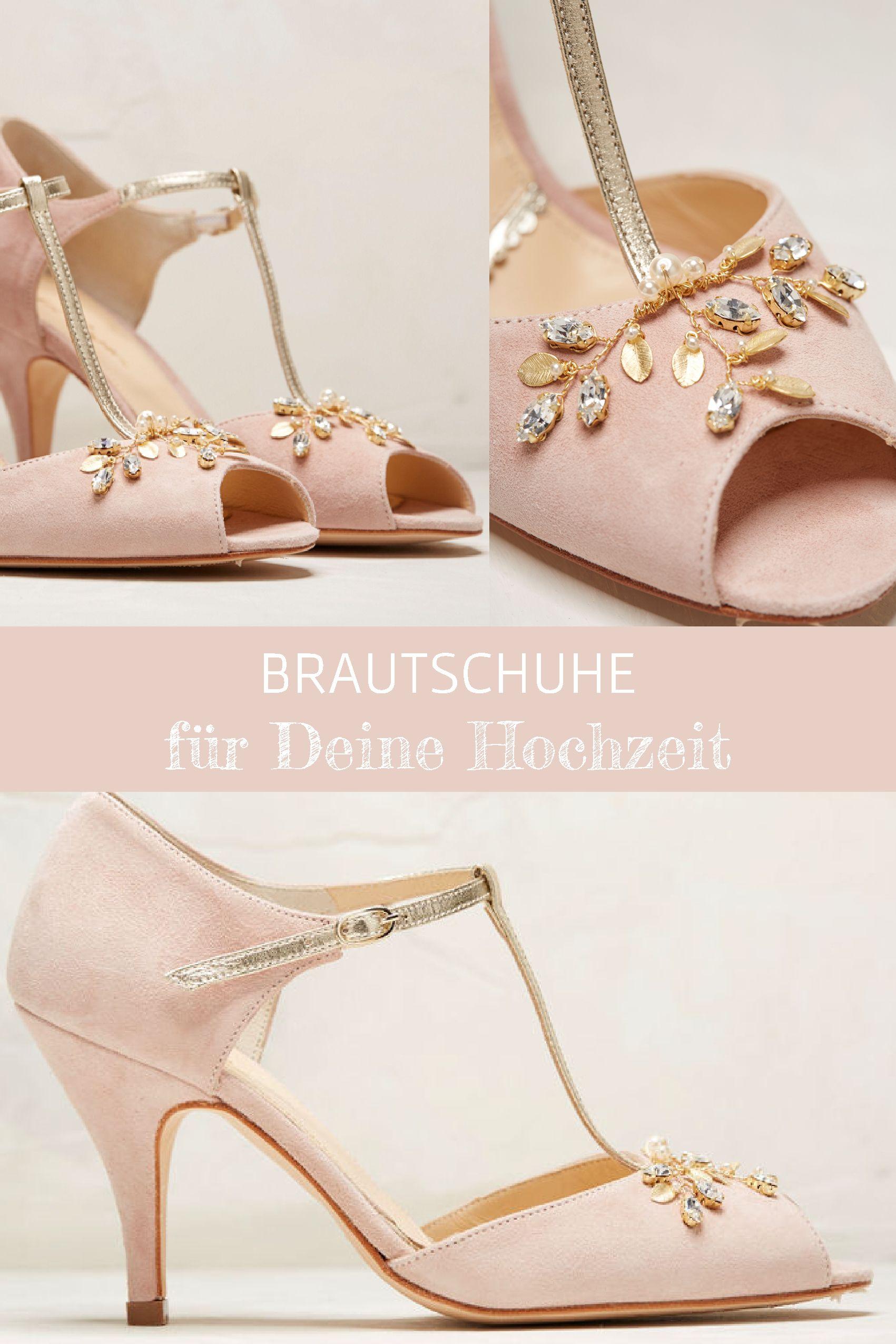Brautschuhe Rosa mit Gold, schlichte Hochzeitsschuhe von Rachel Simpson  Shoes edd6baeb1c