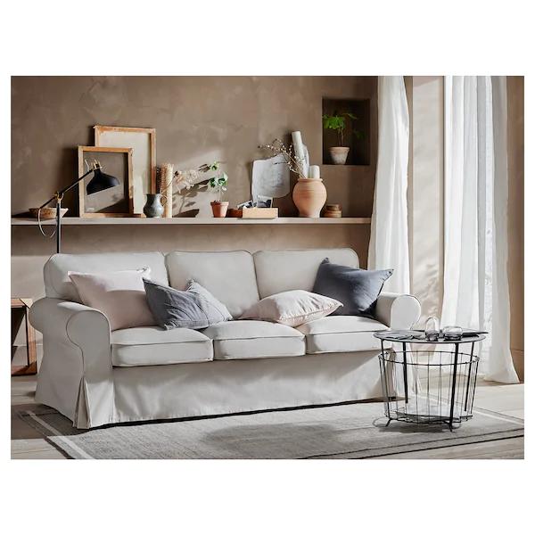 Ektorp Sofa Lofallet Beige Ikea In 2020 Ektorp Sofa 3er Sofa Beige Wohnzimmer
