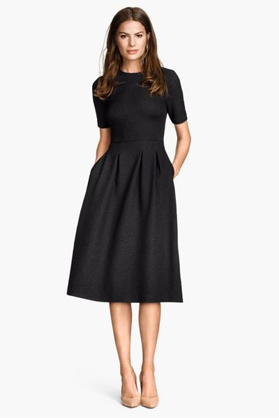 Black classic dress