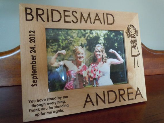 5 Personalized Bridesmaid Picture Frames 5 x by LifetimeCreations ...