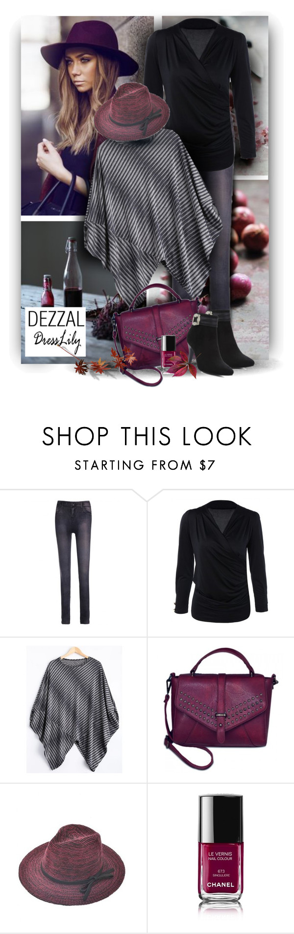 """Happy Sunday with Dresslily and DEZZAL"" by christiana40 ❤ liked on Polyvore featuring Chanel and modern"