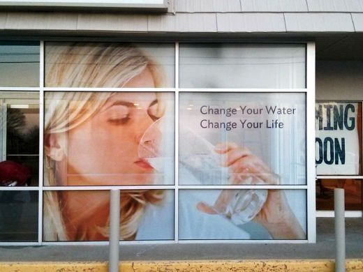 Perforated Window Decal For Storefront   Office Ideas ...