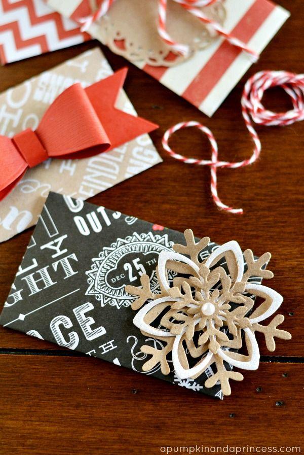 DIY Christmas Gift Card Envelopes