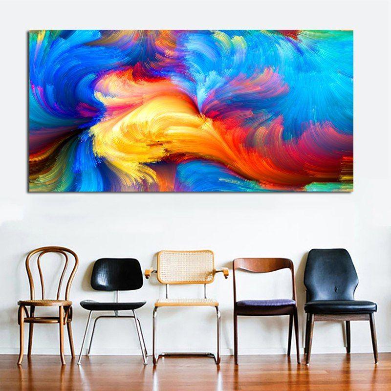 Reliabli Colore Abstrait Art Affiche Imprimer Wall Art Decoration Peinture Impression Sur Toile Modulaire Photos Pour Abstrait Art Abstrait Peinture Decorative