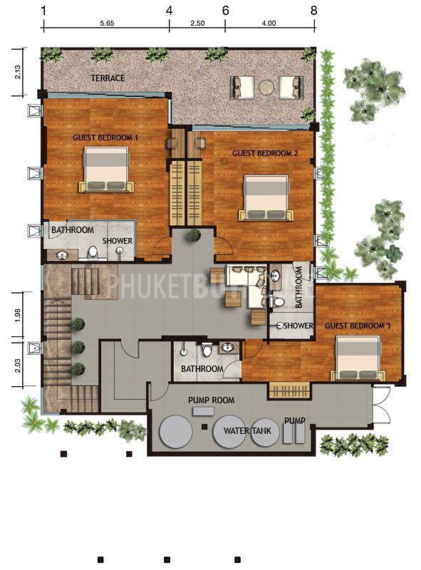 Seaview House Designed By Parsonson Architects: NAT1090: 3-4 Bedroom Luxury Sea View Villas Naithon
